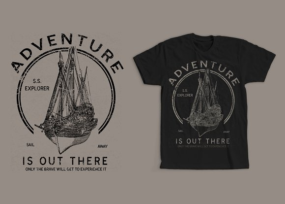 Adventure Is Out There Tshirt Design