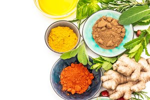 Herbs spices Curry paprika powder
