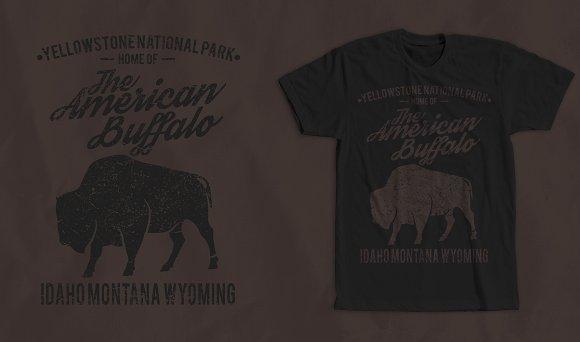 American Buffalo 2 Tshirt Design