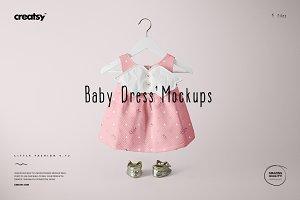 Baby Dress Mockup Set 4