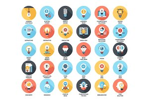 Light bulbs icons