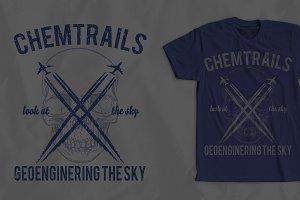 Cemtrails T-Shirt Design