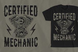 Certified Mechanic T-Shirt Design