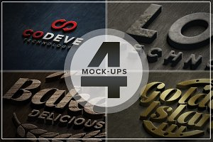 Authentic Logo Mix Mockups Vol. 04