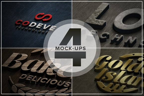 Authentic Logo Mix Mockups Vol 04