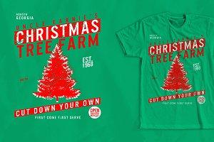 Christmas Tree Farm T-shirt Design