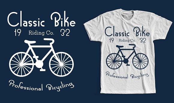 Classic Bike T-Shirt Design