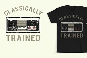 Retro Video Game T-Shirt Design