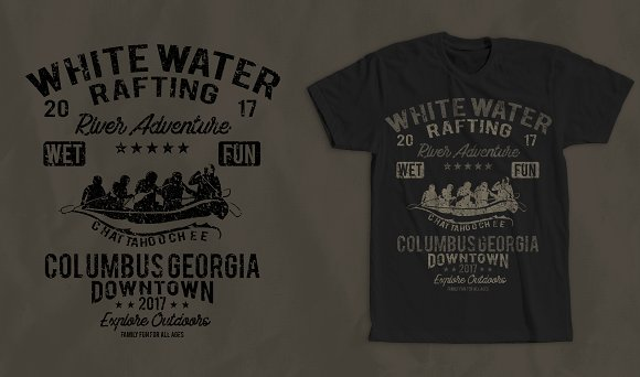 White Water Rafting T-Shirt Design