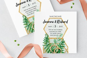Woodland Save the Date Card