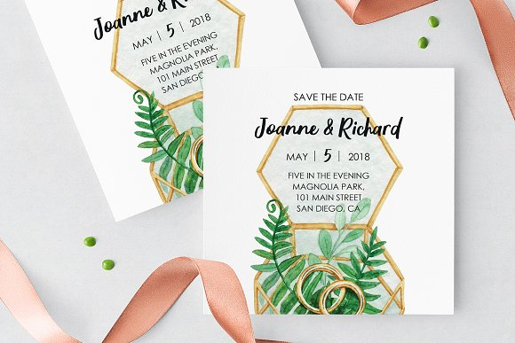 Rustic Postcard Save The Date