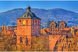 Ruins of Heidelberg Castle in Baden-Wurttemberg state of Germany