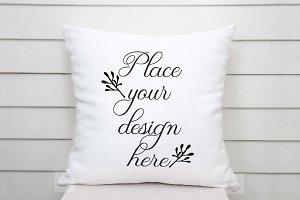 Pillow mockup Cushion template mock