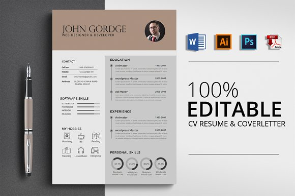 CV Resume Word Format