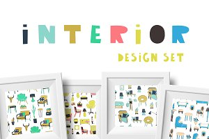 Interior design set