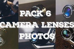 Pack 6 camera lenses photos