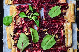 Beetroot Puff Pastry Tart