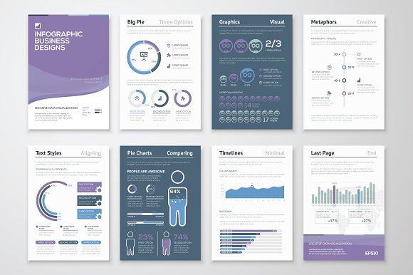 Infographic Brochure Elements Presentation Templates - Infographic brochure template