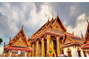 Wat Phra Kaew Ancient, temple of the Emerald Buddha in Bangkok, Thailand