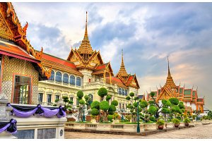 Chakri Maha Prasat Hall at the Grand Palace in Bangkok, Thailand