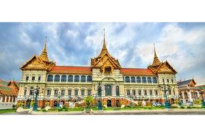 Chakri Maha Prasat Hall at the Grand Palace in Bangkok, Thailand