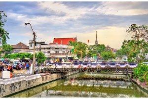 Khlong Rop Krung, a canal in Bangkok, Thailand