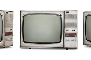 Set of old TVs