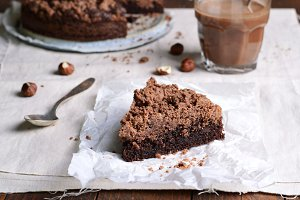 Chocolate Crumble Pie, Hazelnut Brownie