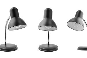 Set of desktop electric lamps