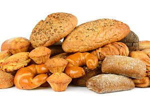 Collection of bread products