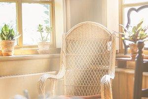 Sunlight inside a vintage room