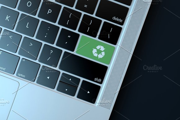 Recycle Icon On Laptop Keyboard
