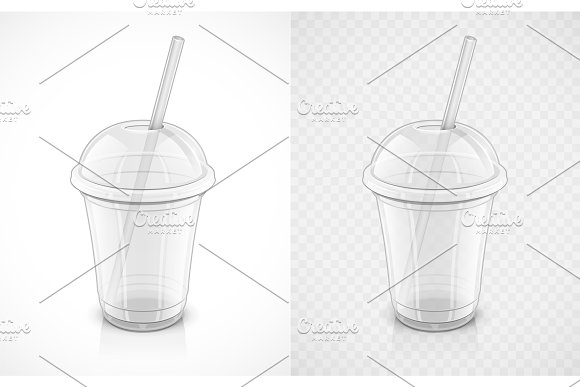 Transparent Plastic Cup Fast-food Pack