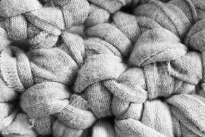 Crochet Detail in Black and White