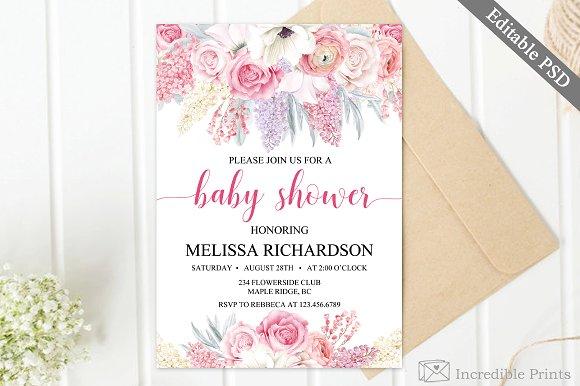 Spring Baby Shower Invitation Invitations