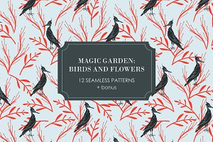 MAGIC GARDEN: Birds and Flowers