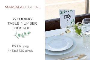 Wedding Table Number Mockup