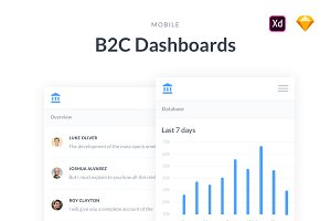 Mobile B2C Dashboards