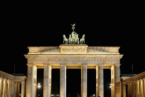 Brandenburger Tor (Brandenburg Gate) in Berlin at night