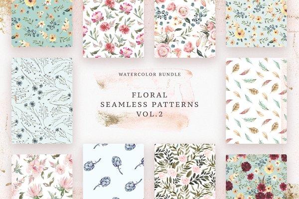 Floral Patterns Bundle Vol.2