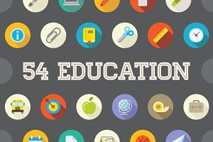 Awesome 54 Education Flat Vector