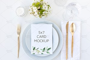 Wedding Menu Mockup Psd