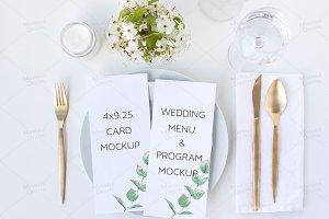 Wedding Menu or Program Mockup