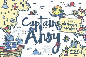 Captain Ahoy - Pirate Kids Set