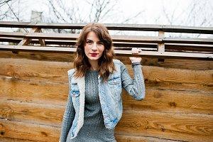 girl in jeans jacket
