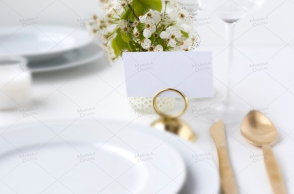 Wedding Place Card Mockup PSD