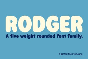 Rodger - A rounded font family