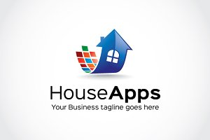 House Apps Logo Template