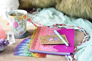 Spiritual Journaling Desk Setup 3