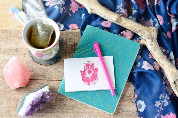 Spiritual Journaling Desk Setup